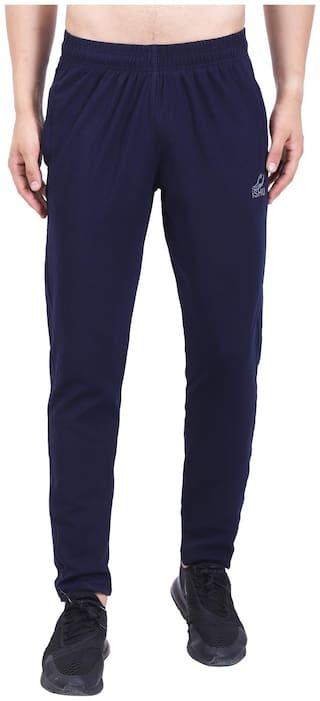 iSHU Men Polyester Track Pants - Blue