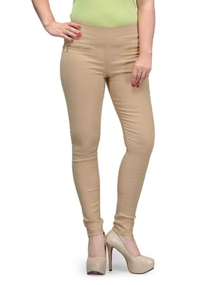 IVY BLUE Lycra Pollyester Skinny Fit Jegging for Woman