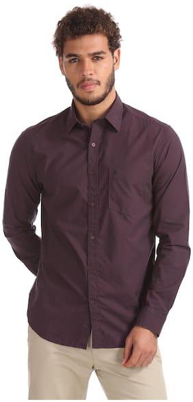 Izod Men Slim Fit Casual shirt - Red