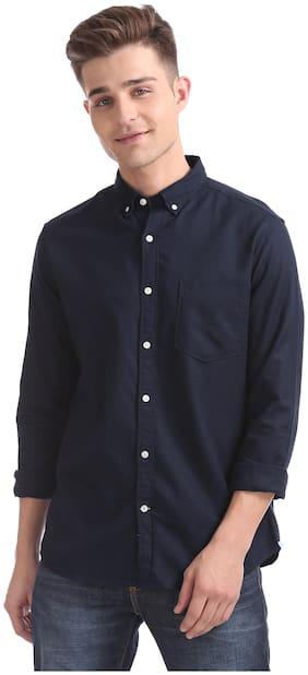 Izod Men Slim Fit Casual shirt - Blue