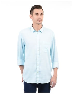 Izod Men Regular Fit Casual shirt - Blue