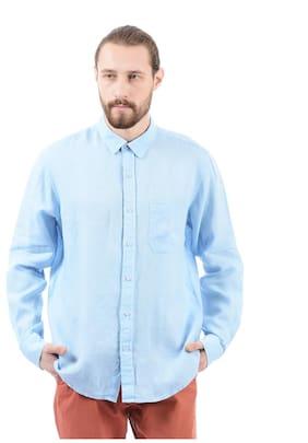 Izod Men Regular Fit Casual shirt - Blue