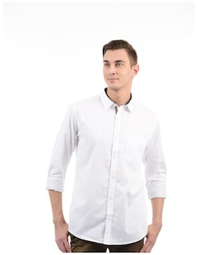 Izod Men Regular Fit Casual shirt - White