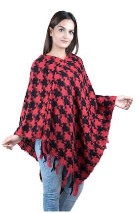 JCOMAX Wool Poncho - Multi