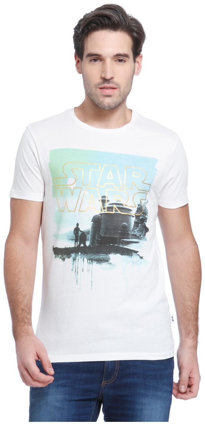 Jack /& Jones Mens Cool Artwork Print Slim Fit Light Blue T-Shirt All Sizes