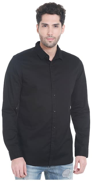 073bdadbe1 Buy Jack   Jones Men Regular Fit Casual shirt - Black Online at Low ...