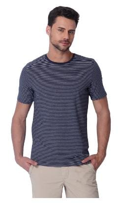 17f9d5533859 Buy Jack & Jones Men Slim Fit Crew Neck Striped T-Shirt - Blue ...