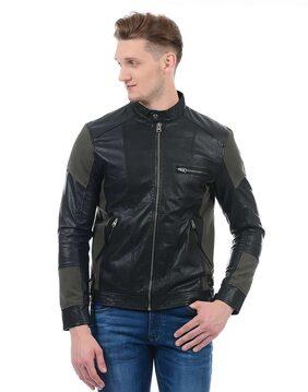 Jack & Jones Men Leather Jacket - Black