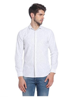 Jack & Jones Men Slim Fit Casual shirt - White