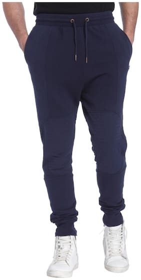 Jack & Jones Men Poly Cotton Track Pants - Blue