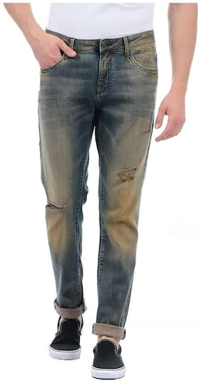 Men Tapered Fit High Rise Jeans