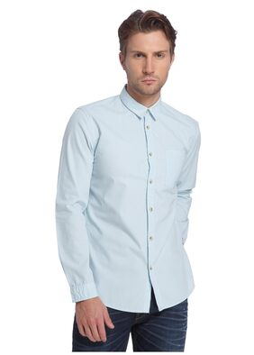 Jack & Jones Men Slim Fit Casual shirt - Turquoise