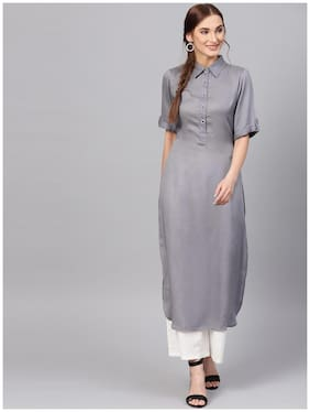 Women Solid Straight Kurta