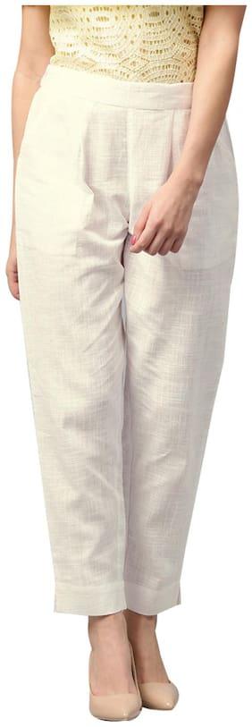 Women Solid Regular Pants ,Pack Of 1