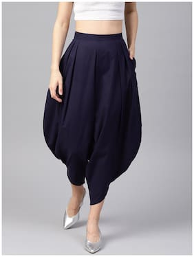 Cotton Solid Harem Pants