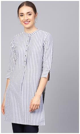 Women Striped Straight Kurti ,Pack Of 1