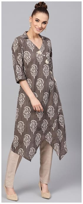 Women Ethnic Motifs Layered Kurta