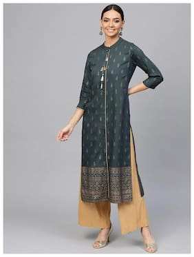 Women Ethnic Motifs Straight Kurta