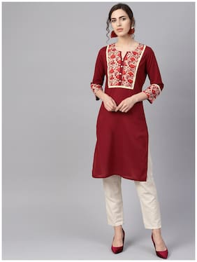 Women Abstract Straight Kurta