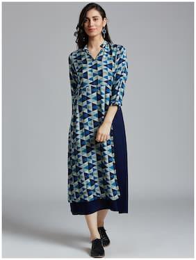 Women Printed Layered Kurti Dress