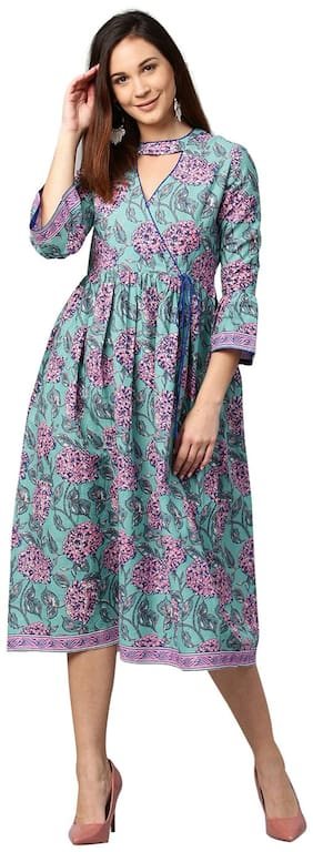 Women Floral A Line Kurti Dress