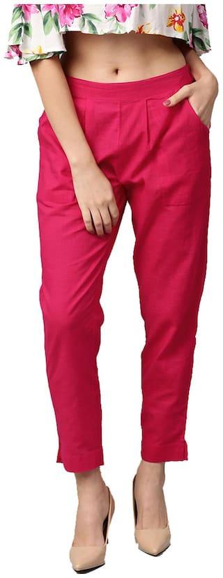Jaipur Kurti Women Pink Straight fit Regular pants
