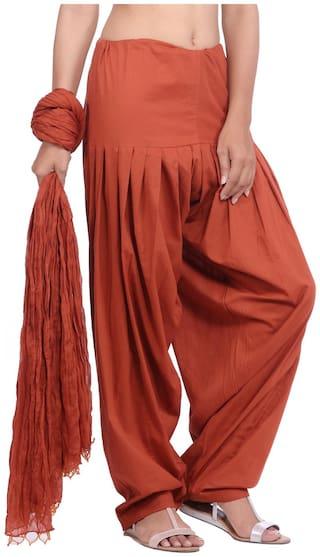 Jaipur Kurti Cotton Patiala - Brown