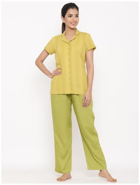 Solid Top and Pyjama Set ,Pack Of 2