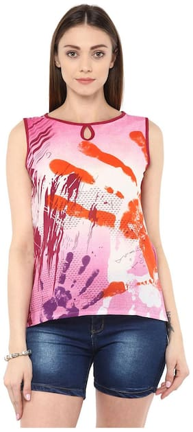 Women Abstract Straight Kurti