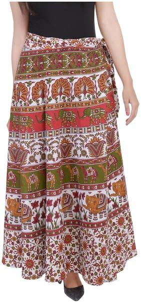 Jaipuri Printed Cotton Wrap Around Skirt