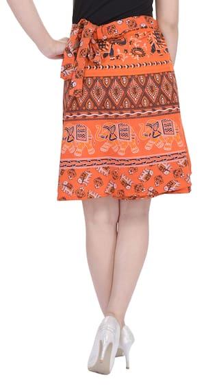 Wrap Cotton Printed Around Length Skirt Jaipuri Knee XHvXD