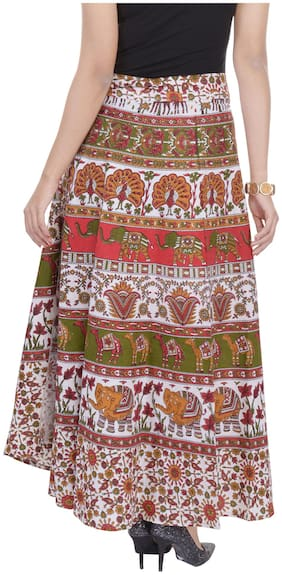 Jaipuri Printed Cotton Wrap Around Skirt