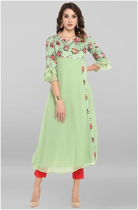 Women Floral A Line Kurta ,Pack Of 1