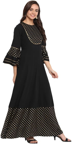 Women Printed Anarkali Fusion Dresses