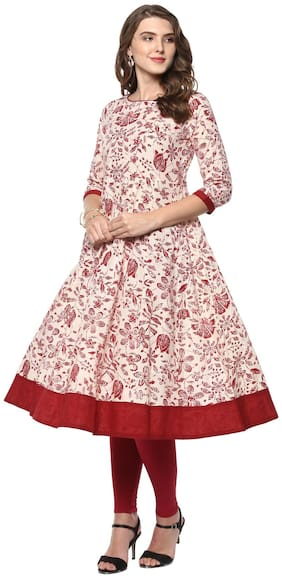 Women Floral Fit and Flare Kurta ,Pack Of 1