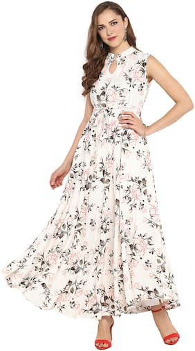 Women Solid Festive Gown