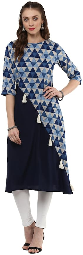 Women Abstract Layered Kurta