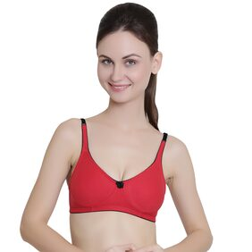Janet Lingeries 1 Non-padded Cotton T-shirt Bra - Red