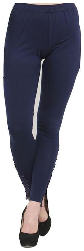 JANVII Cotton Leggings - Blue