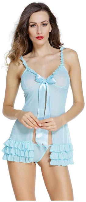 Jara Sexy Honeymoon Lingerie For Women / Ladies and Girls Nightwear Net Babydoll Dress Sleepwear