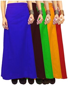 Javuli Soft Poplin Pure Cotton saree Petticoat Inskirt-in-red-mango-green-brown-blue