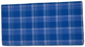 aliflaila Cotton Checked Regular Dhoti Dhoti - Blue