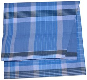 aliflaila Cotton Checked Regular Dhoti Dhoti - Blue