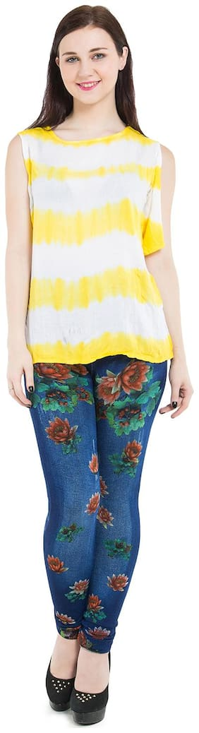 BURDY Women Blue Relaxed fit Jegging