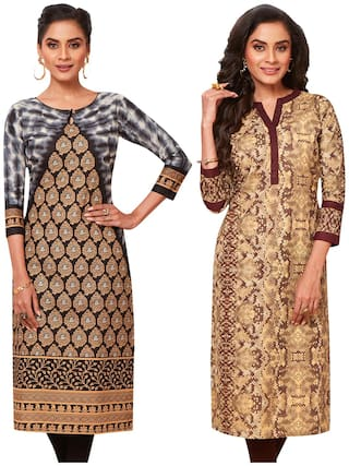 Jevi Prints  Women Pure Cotton Assorted Kurta Fabric
