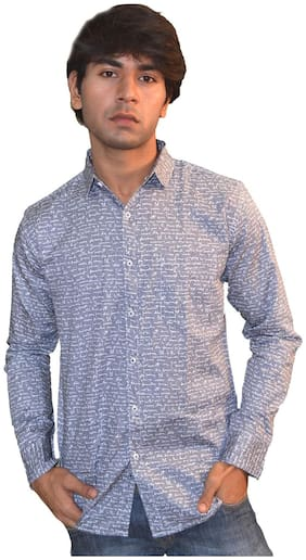 JIGAR ZEE Men Slim fit Casual shirt - Grey