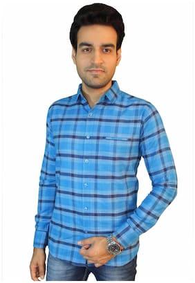 JIGAR ZEE Men Multi Checked Slim Fit Casual Shirt