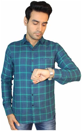 JIGAR ZEE Men Multi Checked Slim Fit Casual Shirt
