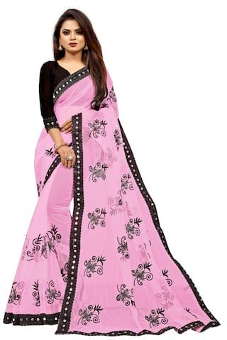 jinnar  Embroidered Bollywood Net Saree