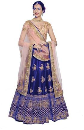 Satin Wedding Lehnga Choli
